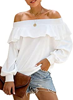 Best off the shoulder blouse white Reviews