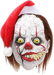 Horror Clown Mask,Scary Stephen King's Pennywise Costume Mask for Halloween Cosplay Party Decoration Props