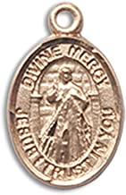 14 Karat Gold Catholic Patron Saint Medal Petite Charm Pendant, 1/2 Inch