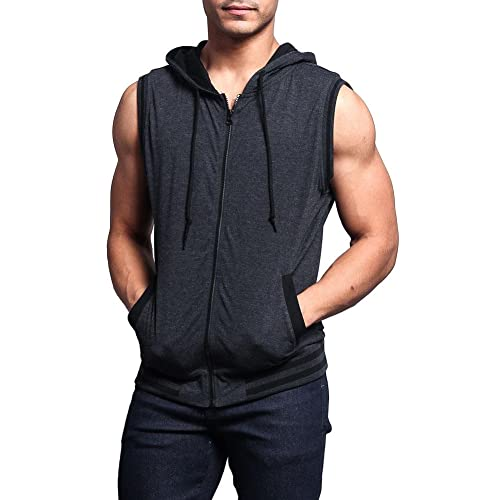 63f4fca8a47068 Victorious G-Style USA Lightweight Sleeveless Contrast Hoodie
