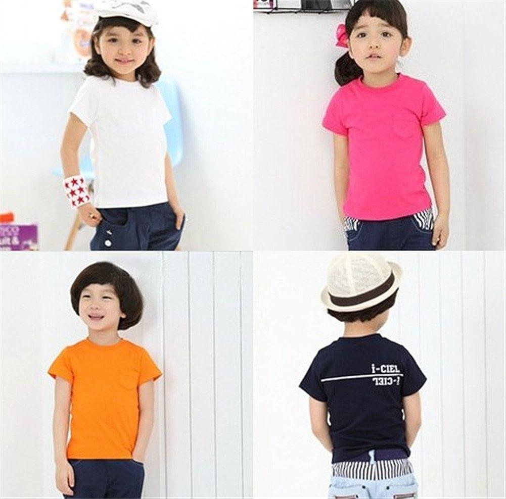 Mud Kingdom Kids Solid Color T-Shirt