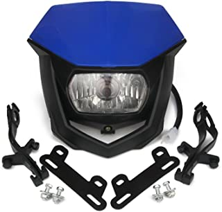 Dirt Bike Supermoto Headlight Kit Motorcycle LED Head Lamp Light H4 12V 35W Hi/Lo For Yamaha YZ125 YZ250 YZ250F YZ450F Motocross Enduro Pit Bike Scooter Universal - Blue