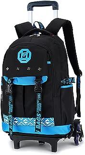 Kids Rolling Backpacks Luggage Six Wheels Unisex Trolley School Bags Blue …