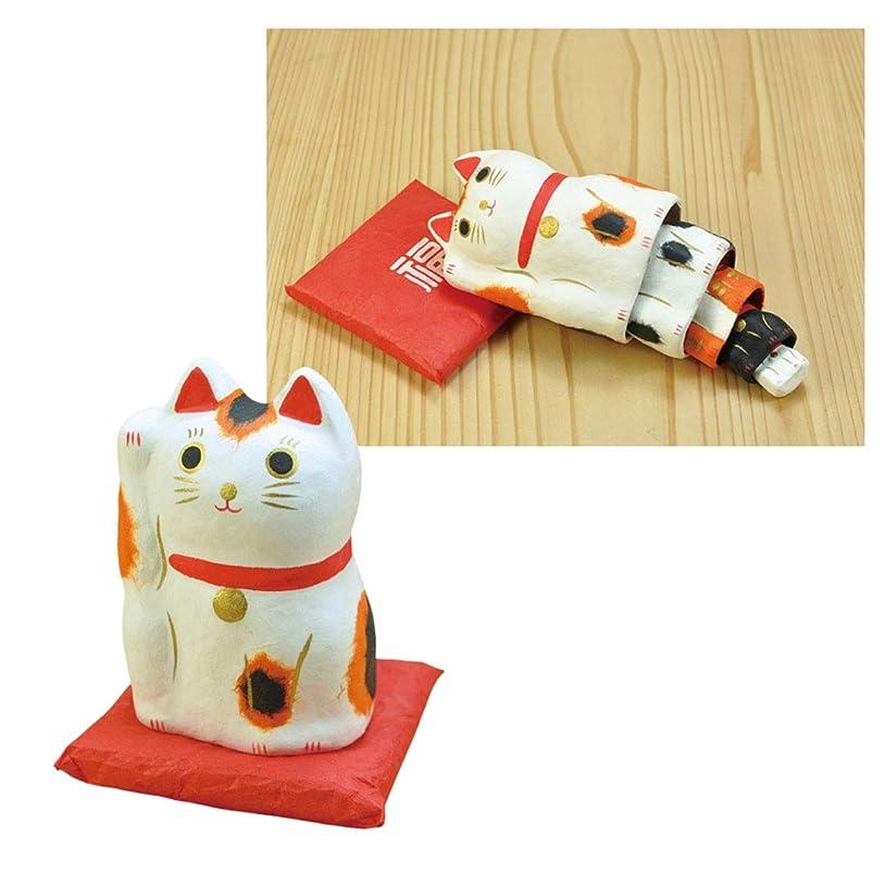 ホバート大腿科学招き猫 置物 グッズ マトリョーシカ 張り子 猫 ねこ 張り子の招き猫飾り はりこーシカ 招き猫 柄 89598