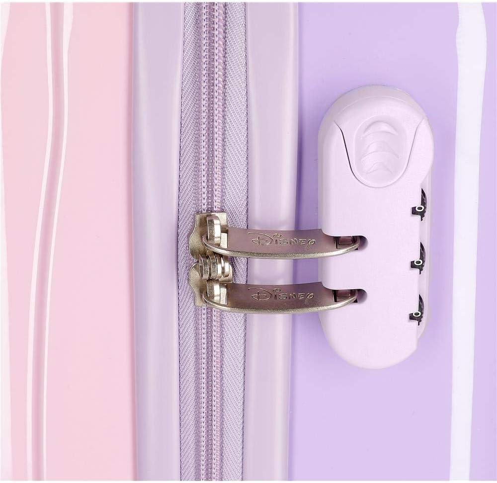 Disney Frozen 2 Purple Kids Rolling Suitcase 50 x 38 x 20 cm Rigid ABS Combination Lock 34 Litre 2.1 kg 4 Wheels Hand Luggage