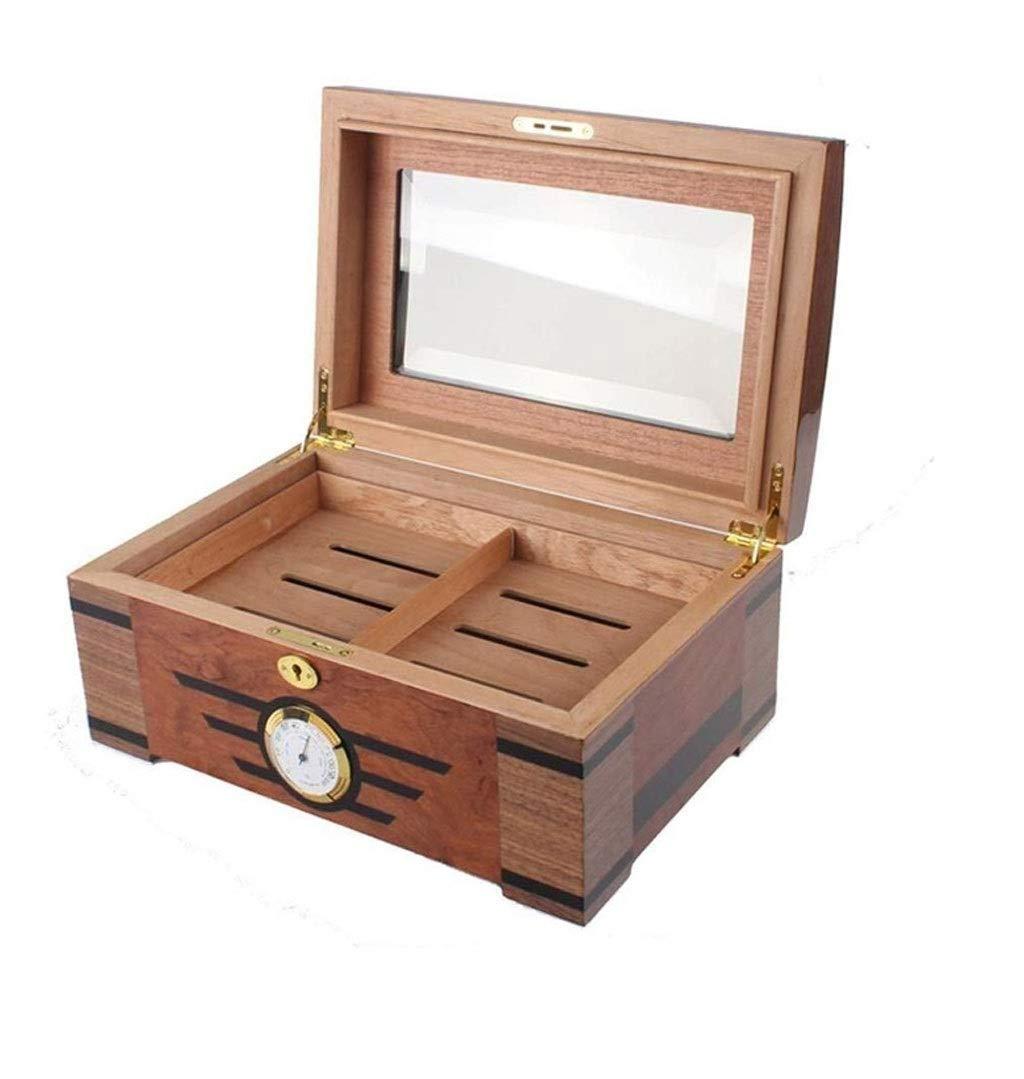ZHJXJH Caja de Pinturas Piano Clásico Humidor de Puros de Madera de Cedro Humidificador Caja de Cigarros: Amazon.es: Hogar