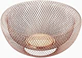Nifty Solutions 7511COP Double Wall Mesh Decorative and Fruit Bowl, Large, Copper