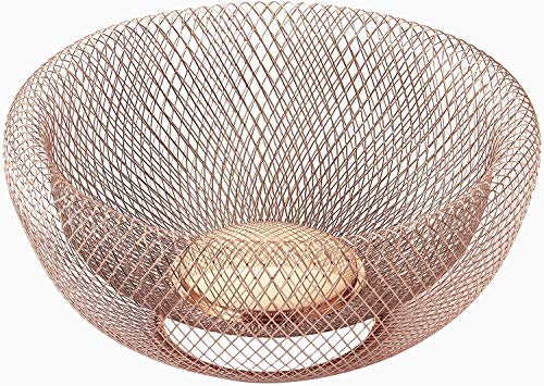 Nifty Solutions 7511COP Double Wall Mesh Decorative and Fruit Bowl, 5 quart/12, Copper