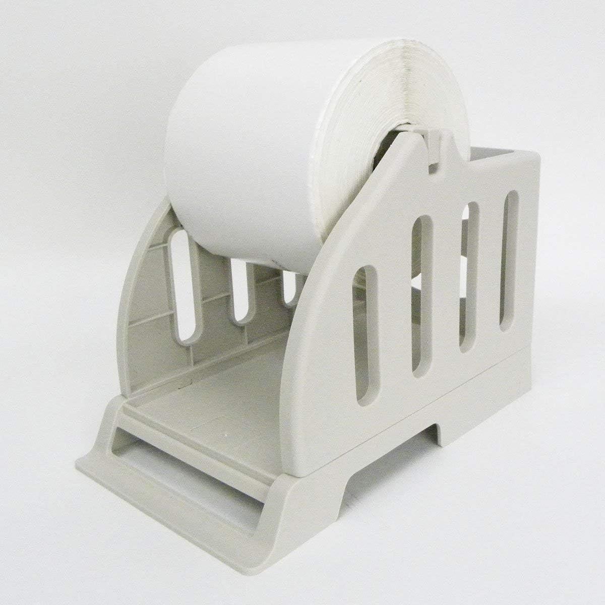 EEkiimy External Plastic Roll Label Paper Holder for Desktop Thermal Barcode Printer Label Paper Holder Thermal Sticker Label Printer for Delivery, Supermarket, Pharmacy Store (Roll Paper Holder)