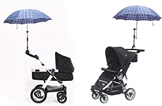 Tianhaik Stroller Umbrella Holder Angle Adjustable Bike Umbrella Mount Swivel Connector Handle Bar Frame Stand