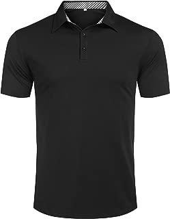 Mens Polo Shirts Fashion Summer Casual Slim Fit Basic Sport Polo T-Shirts