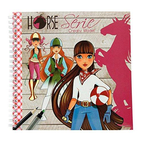 Avenue Mandarine - 1 carnet à colorié Creativ Model Horse Serie Malbuch 20x20cm