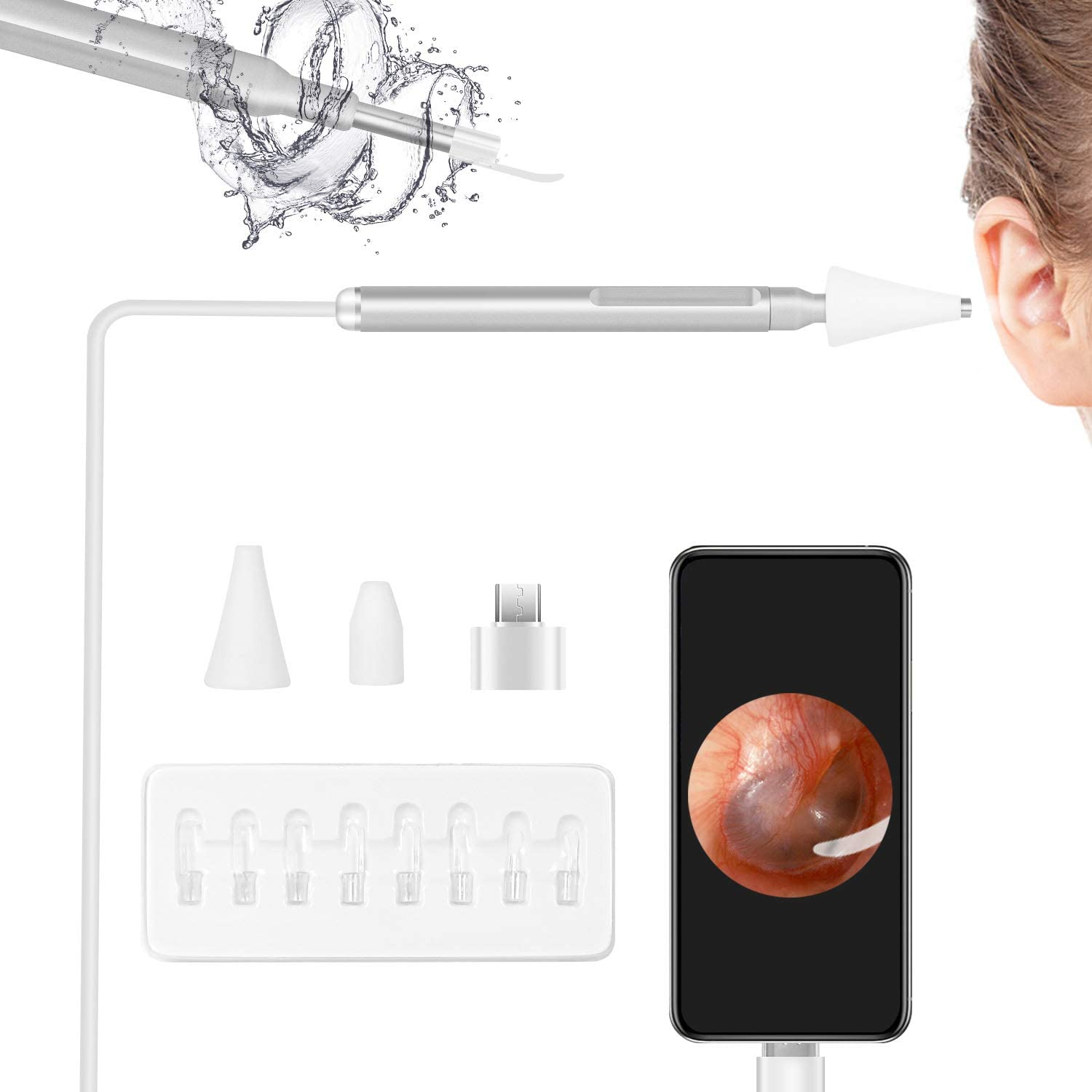 LAYADO Otoscope Camera with Ear Wax Tools Removal New color Bargain sale Upg