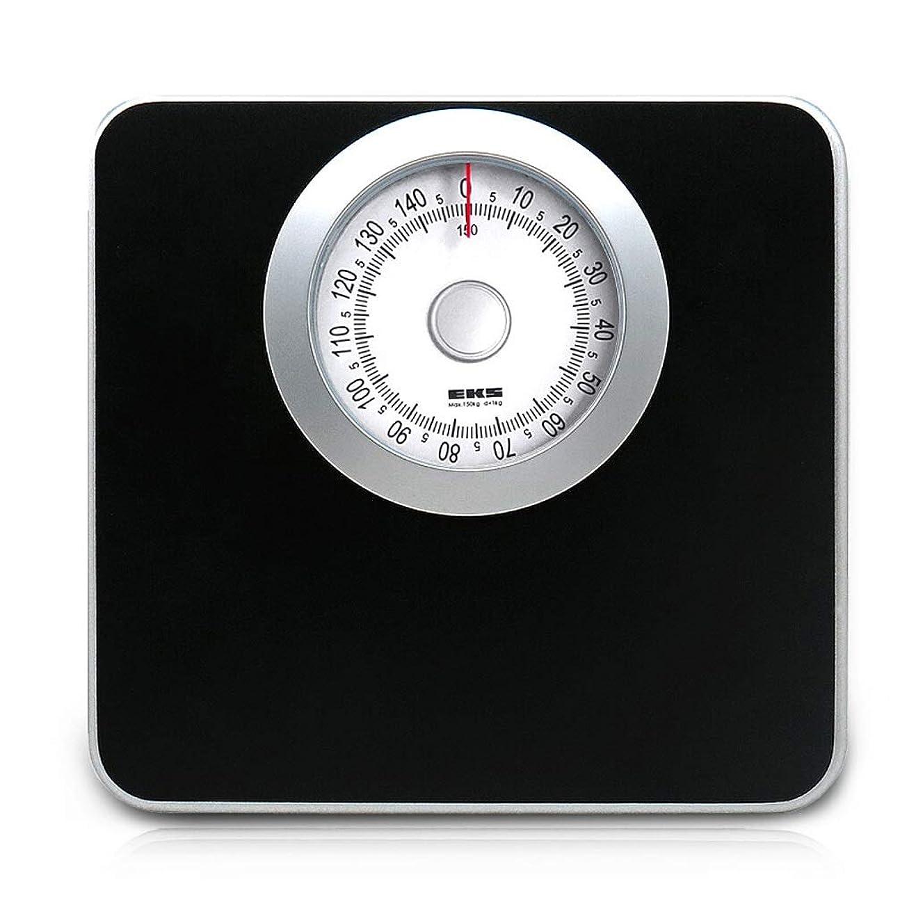 革新フリンジ報いる体重計 - 機械的体重計、ヒューマンヘルススケール、バッテリー不要 (色 : 黒)