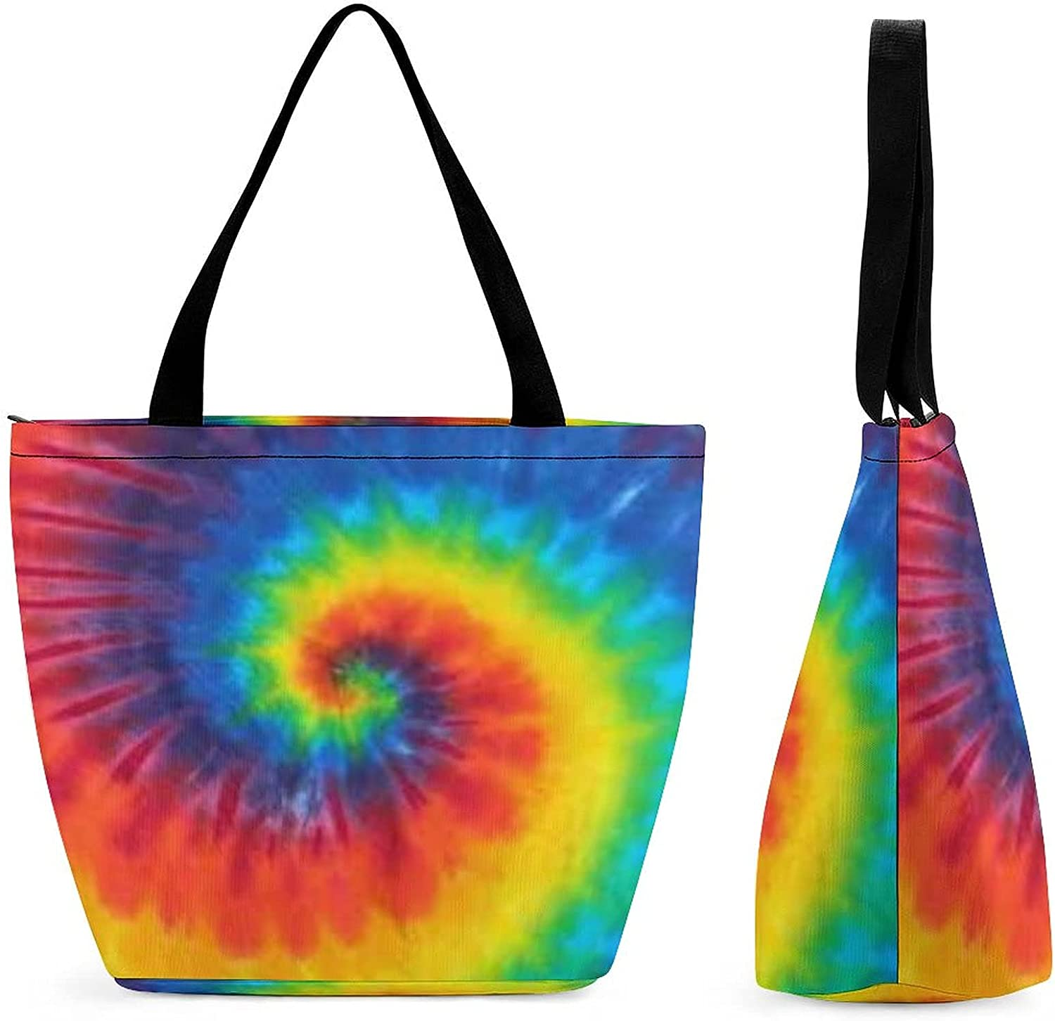 Tie Dallas Mall Dye Pattern Womens' Large Shoulde Reusable Capacity Be super welcome Tote Bag