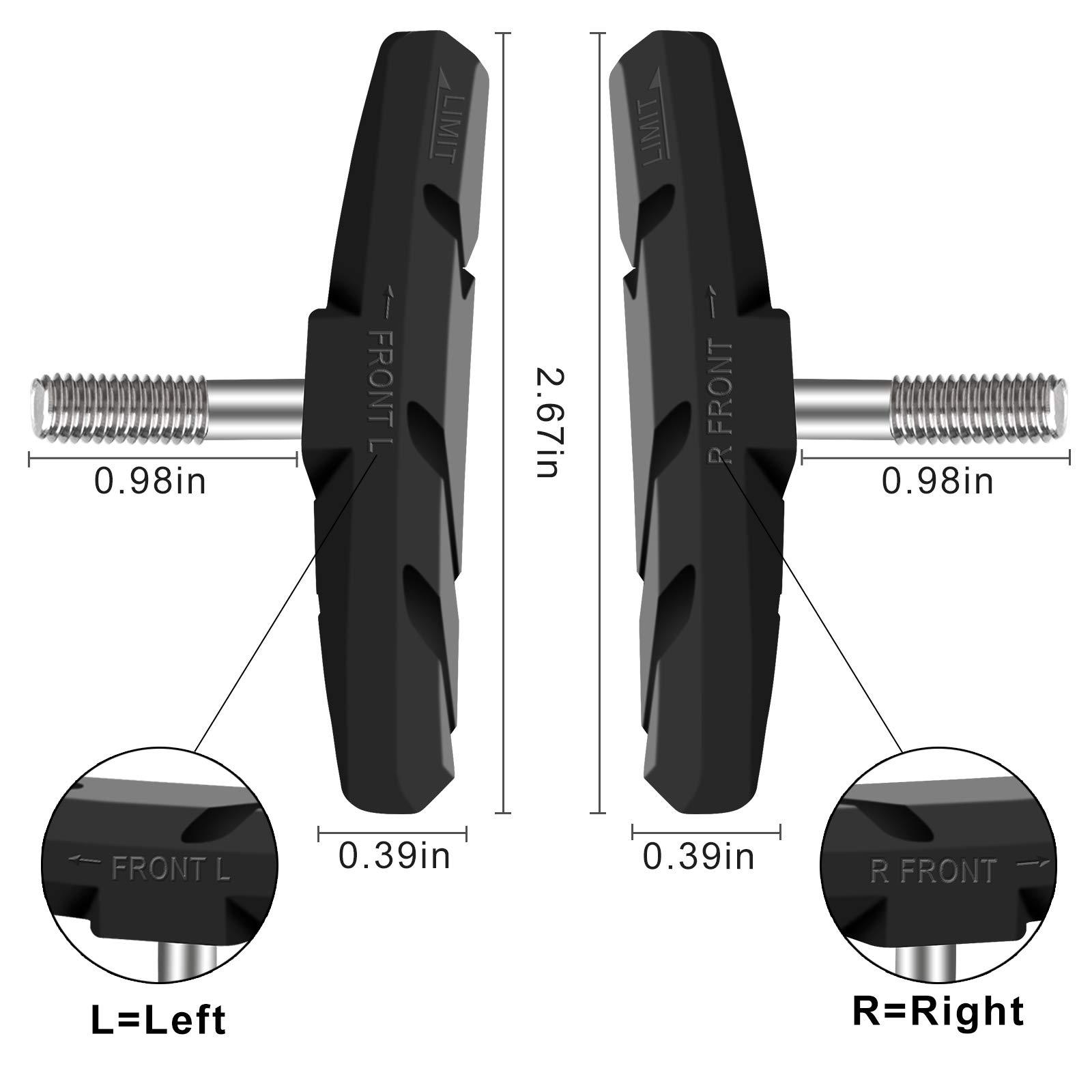 EyezOff Performance Brake Pads V-Brake Anti-Squeal Black