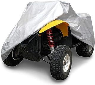 AiJump Copertura 190T Poliestere Rivestito per Quad ATV Motociclo Scooter Impermeabile Antipolveri Copri Anti-UV con Sacca Nero M:145x85x98cm