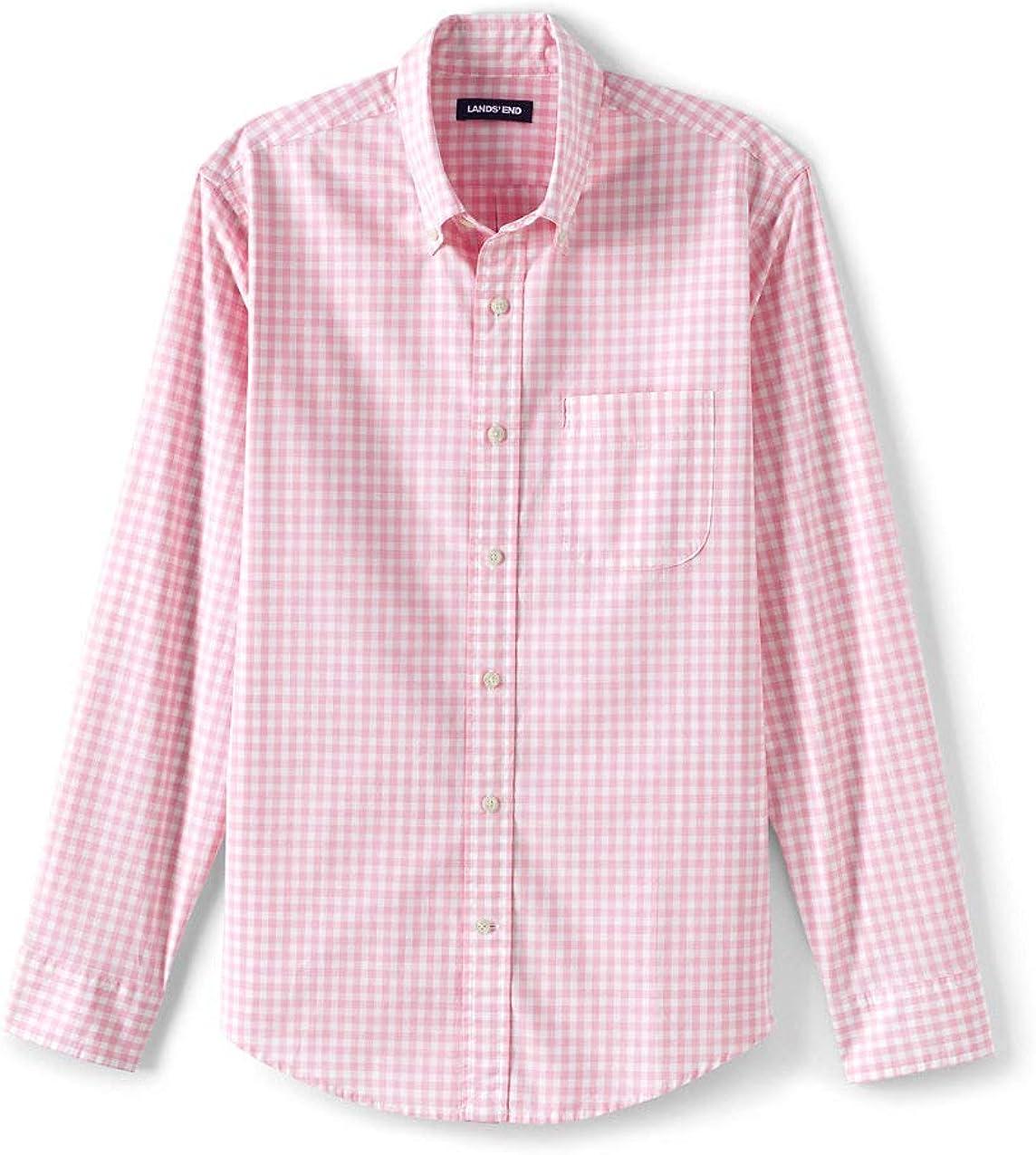 Lands' End Men's Traditional Fit Essential Lightweight Poplin Shirt