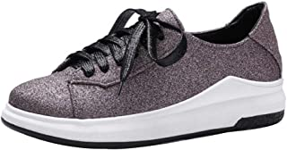 BeiaMina Women Casual Low Heel Sneakers Shoes Lace Up