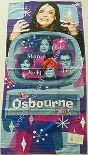 The Ozzman Ozzy Osbourne of Black Sabbath and Family - The Osbourne Show Signature Beach Towel