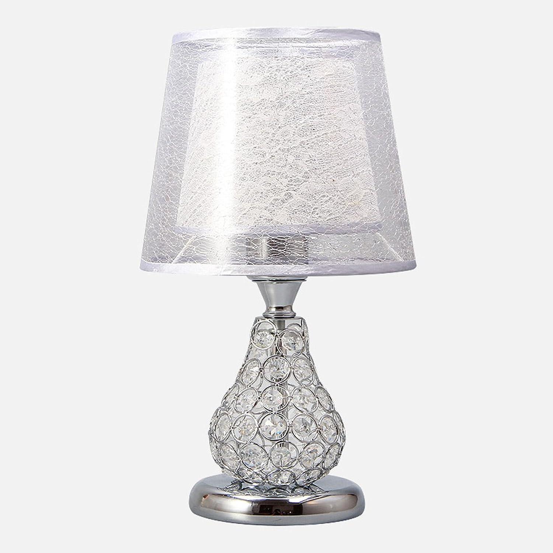 LILY Doppelte Lampen-Schatten-Kristalltisch-Lampe, doppelte Knopf-doppelte helle Garten-europäische Art-Lampe E27 ( Farbe   Weiß ) B0736KP34B   Kunde zuerst