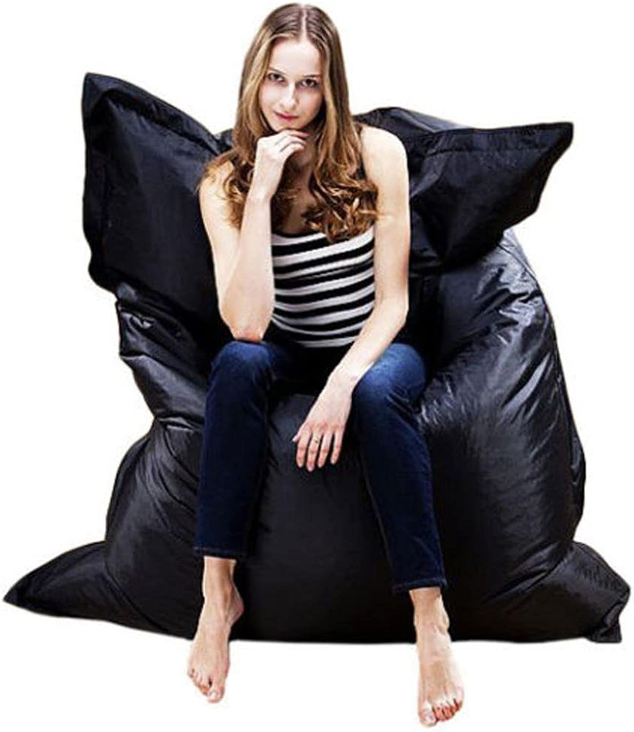 Mchoice Giant Beanbag Cushion Pillow Indoor Outdoor Relax Gaming Gamer Bean Bag (Black)