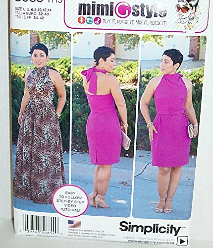 Simplicity S0854, Sewing Pattern, Size U5 (16-18-20-22-24) Easy to follow w/video tutorial from Mimi G Style