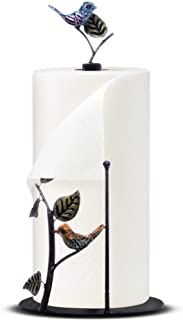 Bird - Cute and Decorative Kitchen Paper Towel Holder Countertop, Free Standing, Iron, 15 inch