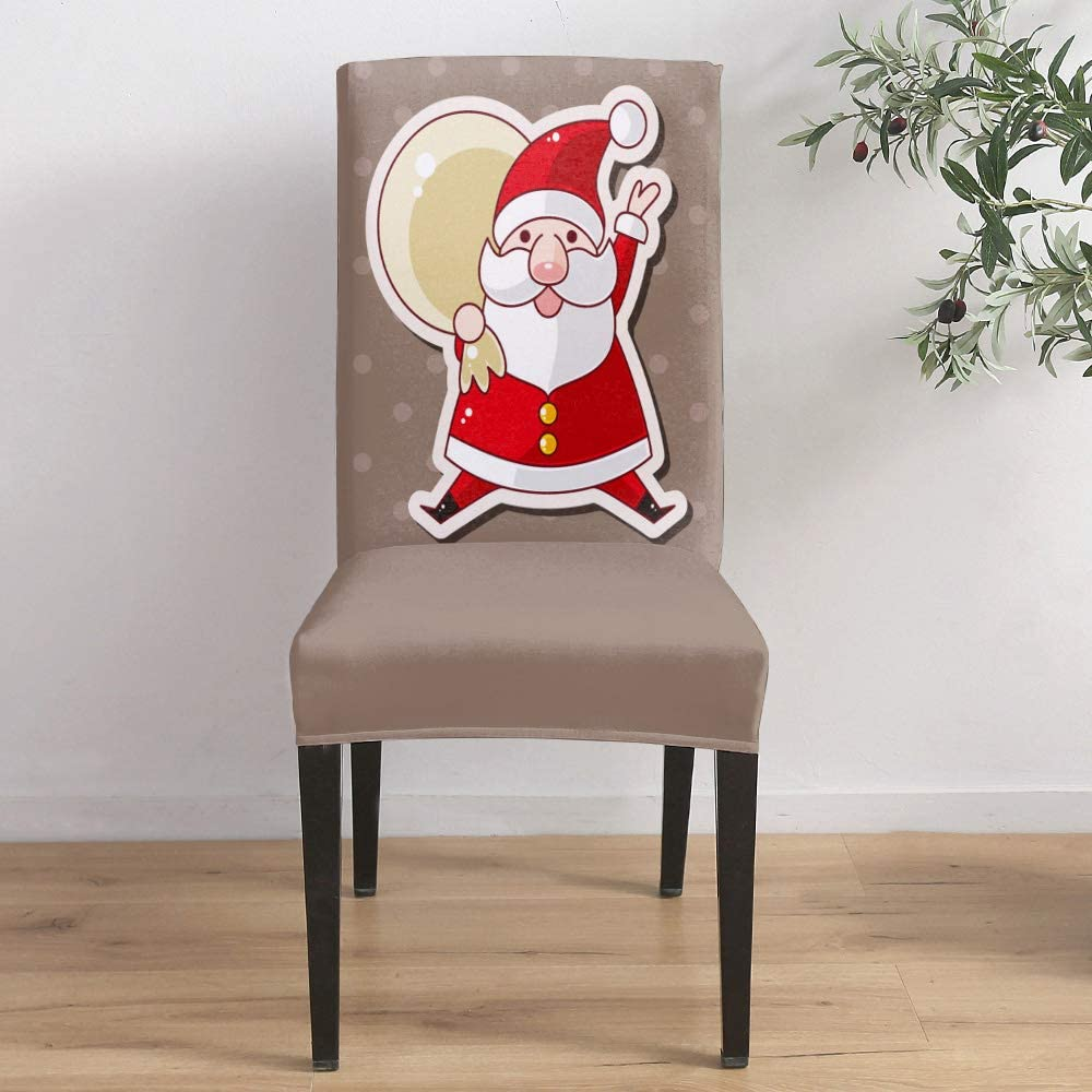 Dining Online limited product Room Stretch Chair Cover Slipcover Cartoon Santa Sale SALE% OFF Cute Cla
