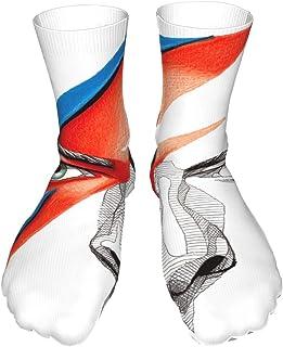 AsakawaKoutarou, Da-Vid Bow-Ie Unisex Moda Impresión Algodón Transpirable Casual Deporte Calcetines Largos Calcetines Gruesos