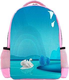 Cranes Swan In Lotus Pond Backpack Kids School Book Bags for Elementary Primary Schooler