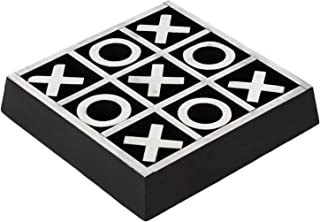 Christmas Gifts Handmade Wooden Tic Tac Toe Game Noughts and Crosses Family Brain Teaser Puzzle Coffee Table for Adults & Children All Ages