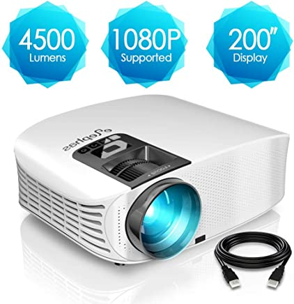 720 Pixels 4500 Lumen unterst/ützt Full HD unterst/ützt 1080P Multimedia LED 50000 Stunden f/ür Heimkino Fu/ßball Spiel Spa/ß am Erkunden Apeman Mini Beamer Tragbarer 1280 Beamer Mehrweg