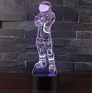 3D Lámpara óptico Illusions Luz Nocturna, CKW 7 Colores Cambio de Botón Táctil y Cable USB para Cumpleaños, Navidad Regalos de Mujer Bebes Hombre Niños Amigas (Dark Voyager)