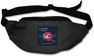 HKUTKUFGU Fanny Pack para Mujeres y Hombres Ugandan Knuckles Doge Meme Parody riñonera Bolsa de Viaje Bolsillo Cartera Bum Bag para Correr, Ciclismo, Senderismo, Entrenamiento