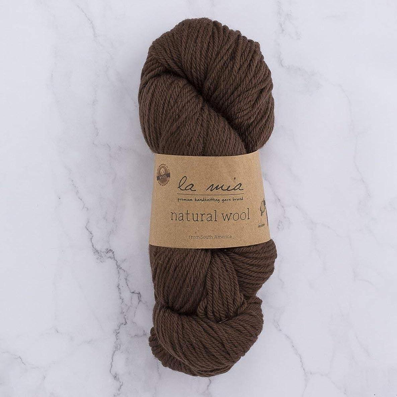 1 Skein La Mia%100 Natural Wool 3.5 Oz(100g) / 218 Yrds (200m), Medium Worsted, Afghan, Yarn, Brown - 40007