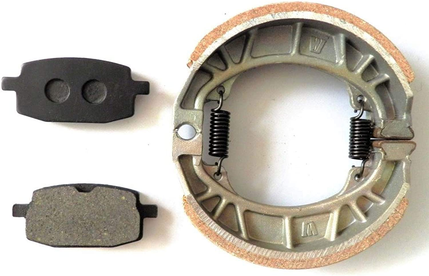 SalaCtr  Motorcycle Rear Brake Disc Pads + Drum Brake shoes Set for GY6 49CC 50CC Scooter Moped TAOTAO Parts