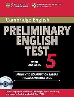Cambridge Preliminary English Test 5: Self-study Pack