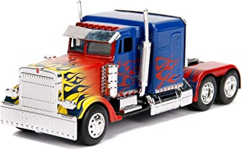 Optimus Prime Truck with Robot on Chassis from Transformers Movie Hollywood Rides Series Diecast Model by Jada 99802