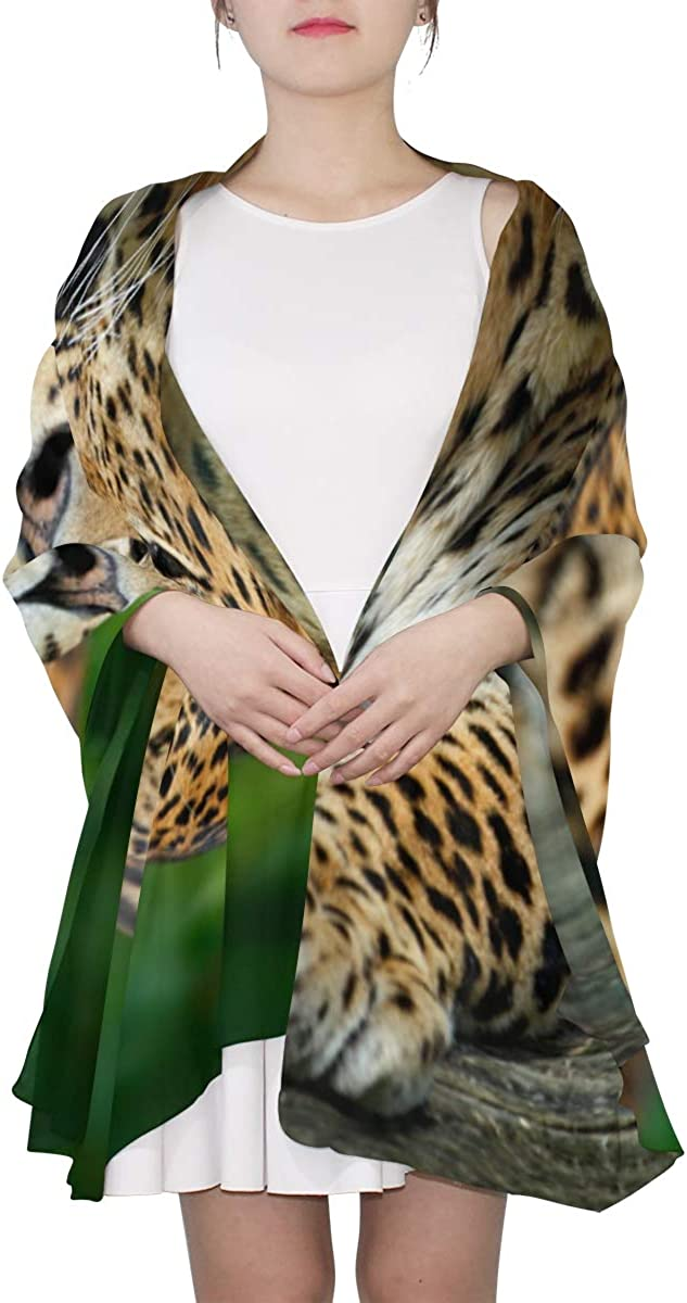 Beautiful Leopard Unique Fashion Scarf For Women Lightweight Fashion Fall Winter Print Scarves Shawl Wraps Gifts For Early Spring