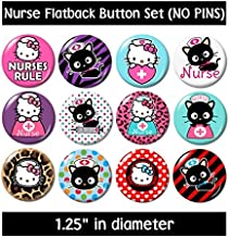 Nurse Kitty Flatback (no pins) Buttons