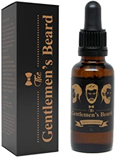 The Gentlemen's Premium Beard Oil, Conditioner & Softener - Natural, Organic - Fortified with Argan, Jojoba, Evening Primrose, Sunflower Seed Oil and Vitamin E for Best Results
