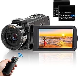 ビデオカメラ ACTITOP デジタルビデオカメラ HDビデオカメラ 3600万画素 HD1080P 16倍デジタルズーム 暗視機能 予備バッテリーあり リモコン付属 日本語システム (3600万画素) (3051)