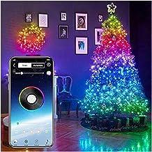 Slimme app-gestuurde kerstverlichting, waterdichte/aangepaste kerst-LED-kerstverlichting - kerstboomversieringsverlichting...