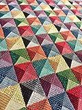 Rhombus quadratisch Print Gobelin Stoff–Material für