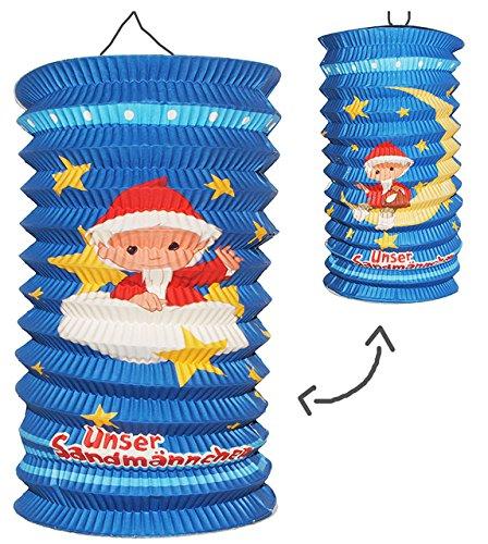alles-meine.de GmbH Papier Laterne / Lampion - LANG - Unser Sandmännchen - für Kinder Papierlaterne - Laternen Lampions - Figuren - für Laternenumzug - Mädchen Jungen - Sandmann