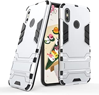 Case for Xiaomi Mi 8 (6.21 inch) 2 in 1 Shockproof with Kickstand Feature Hybrid Dual Layer Armor Defender Protective Cove...