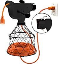 Extension Cord Winder Organizer, Transportable from Wall to Wall with 2 Fixed and 1 Swivel Wall Mount