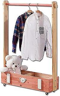 Porte manteau Cintre en bois massif pour enfants, Armoire de rangement multifonctionnelle au sol, Porte-manteau amovible p...