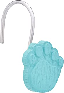 AmazonBasics Kids' Shower Curtain Hooks - Paw Prints